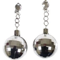 70S Disco Ball Earrings - Disco