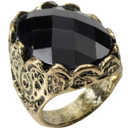 Black Stone Ring - Game of Thrones front