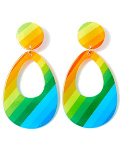 Teardrop Multi-Coloured Earrings