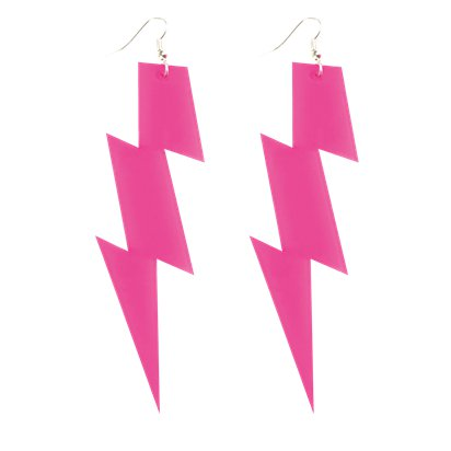Flash Earrings - 80's Fancy Dress Costume Accessories pla