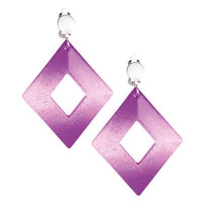 Rhombus Earrings - 80's Fancy Dress Accessories pla
