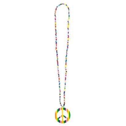 Happiness Necklace - Adult 60s Fancy Dress Accessories front