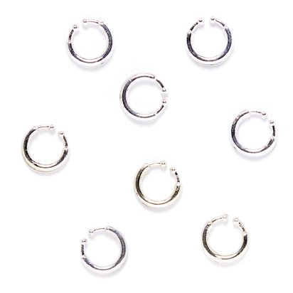 Punk Body Piercings -  Punk Rocker Fancy Dress Accessory - Adult front