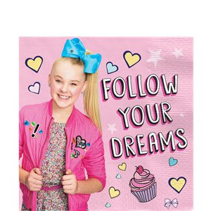 JoJo Siwa Paper Party Napkins - 33cm