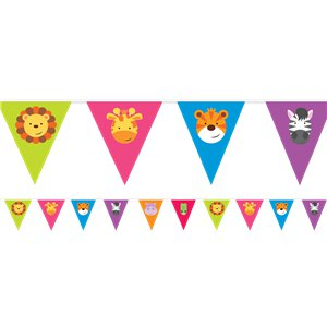 Animal Friends Pennant Banner - 4m