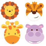 Animal Friends Face Masks