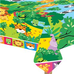 Animal Friends Plastic Tablecover