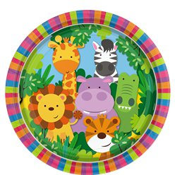 Animal Friends Plates - 23cm Paper Party Plates