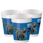 Jurassic World Party Cups - 200ml Plastic Cups