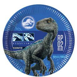 Jurassic World Party Plates - 23cm Paper Plates
