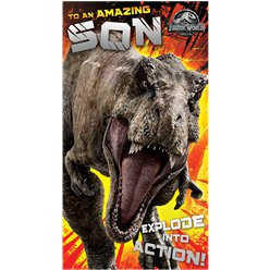 Jurassic World Son Birthday Card