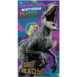 Jurassic World Girl Birthday Card
