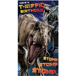 Jurassic World Birthday Card