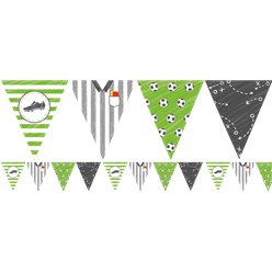 Kicker Party Paper Flag Banner - 4m