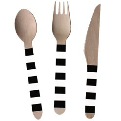Kicker Party Cutlery - Assorted Wooden Cutlery