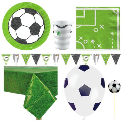 Kicker Football Party Pack - Deluxe Pack for 8