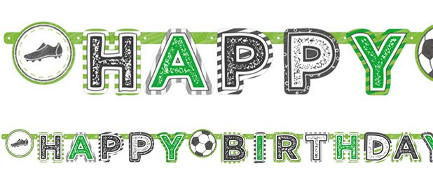 Kicker Party 'Happy Birthday' Letter Banner - 2m