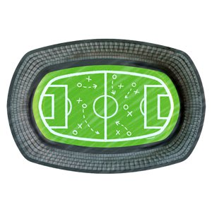 Kicker Party Paper Serving Trays - 24cm