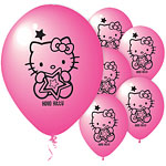 "Hello Kitty Balloons - 9"" Latex"