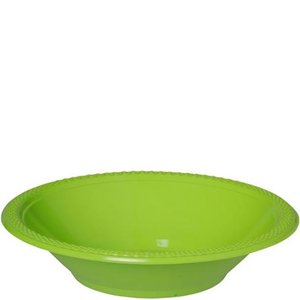 Lime Green Party Bowls - 355ml Plastic