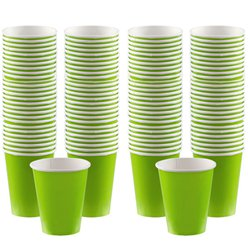 Lime Green Coffee Cups - 340ml Paper Cups