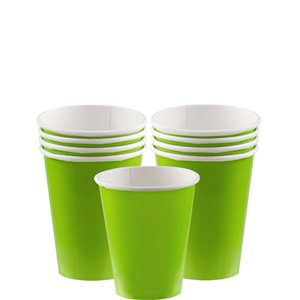 Lime Green Party Pack For 8 People - Value Pack For 8