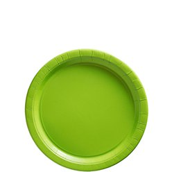 Lime Green Dessert Plates - 18cm Paper Party Plates