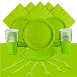 Lime Green Party Pack For 20 People