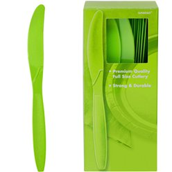 Lime Green Reusable Knives - 100pk