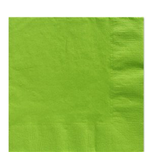 Lime Green Luncheon Napkins - 33cm Square 2ply Paper