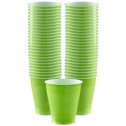 Lime Green - 473ml Plastic Party Cups