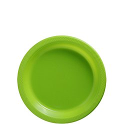 Lime Green Dessert Plates - 18cm Plastic Party Plates