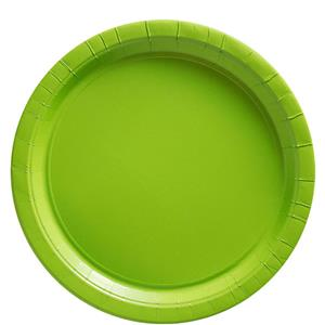 Lime Green Plates - 23cm Paper Party Plates