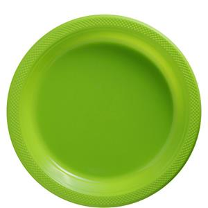 Lime Green Plates - 23cm Plastic Party Plates