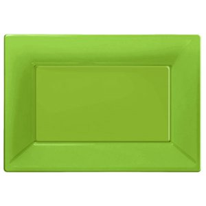 Lime Green Serving Platters - 23cm x 32cm Plastic