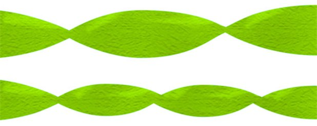 Jumbo Lime Green Crepe Paper Streamer - 152m