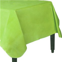 Lime Green Flannel-Backed Vinyl Tablecover - 1.3m x 2.2m