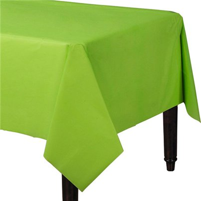 Lime Green Plastic Tablecover - 1.4m x 2.8cm