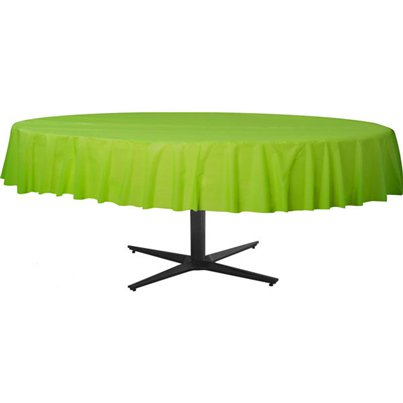 Lime Green Round Tablecover - Plastic - 2.1m