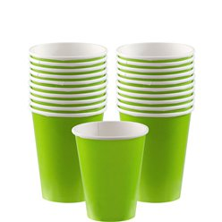 Lime Green Cups - 266ml Paper Party Cups
