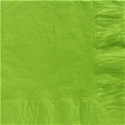 Lime Green Dinner Napkins - 40cm Square 2ply Paper