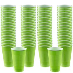 Lime Green - 355ml Plastic Party Cups
