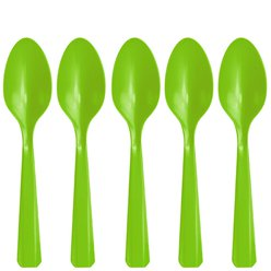 Lime Green Plastic Spoons