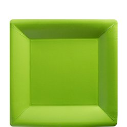 Lime Green Square Plates - 18cm Paper Party Plates