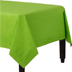 Lime Green Plastic Lined Paper Tablecover - 1.4m x 2.8m