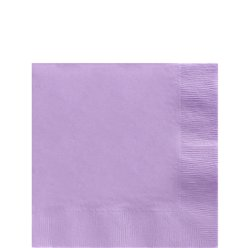 Lilac Beverage Napkins - 2ply Paper