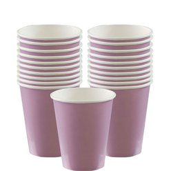Lilac Cups - 266ml Paper Party Cups