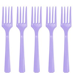 Lilac Reusable Forks - 20pk