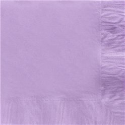 Lilac Dinner Napkins - 2ply Paper