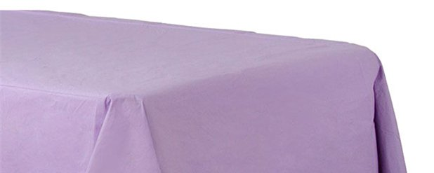 Lilac Plastic Lined Paper Tablecover - 1.4m x 2.8m